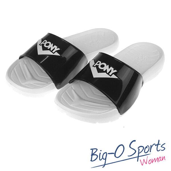 秒殺新款!!!  PONY 運動拖鞋拖鞋 防水  情侶款  62U1SL63SW Big-O Sports
