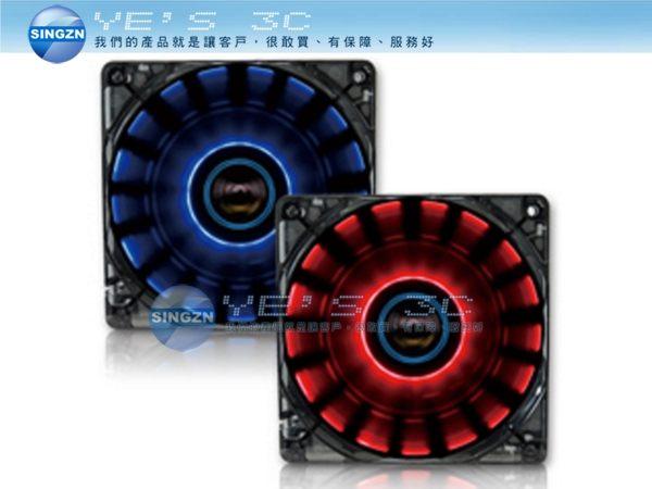 「YEs 3C」全新 LEPA 利豹 CHOPPER FAN-LEPA-LPCP12N 炫彩360度環旋 12公分風扇 藍燈/紅燈 yes3c