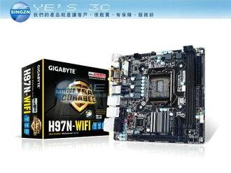 「YEs 3C」GIGABYTE 技嘉 GA-H97N-WIFI 主機板 INTEL LGA 1150 H97 7ne 免運 yes3c