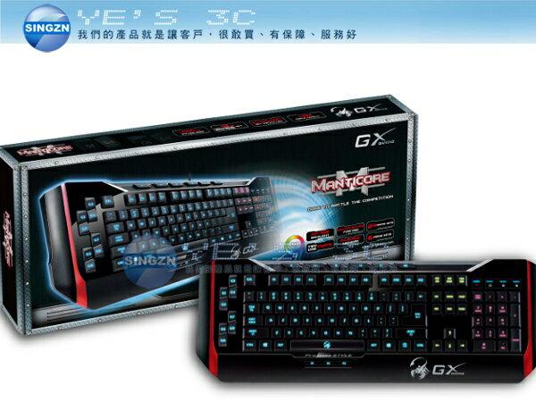 「YEs 3C」 全新 Genius 昆盈 GX Gaming Manticore 獅皇蠍 專業級背光電競鍵盤 有發票 免運 11ne yes3c
