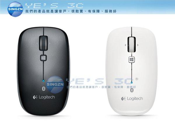 「YEs 3C」LOGITECH 羅技 M557 藍牙滑鼠 黑/白 1000dpi Windows 8平板/桌機/筆電 有發票 免運 yes3c