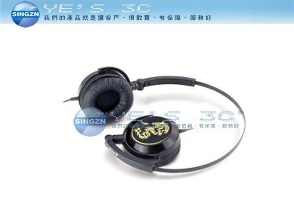 「YEs 3C」Genius 昆盈 GHP-400F 輕巧折疊式耳機 黑色 yes3c