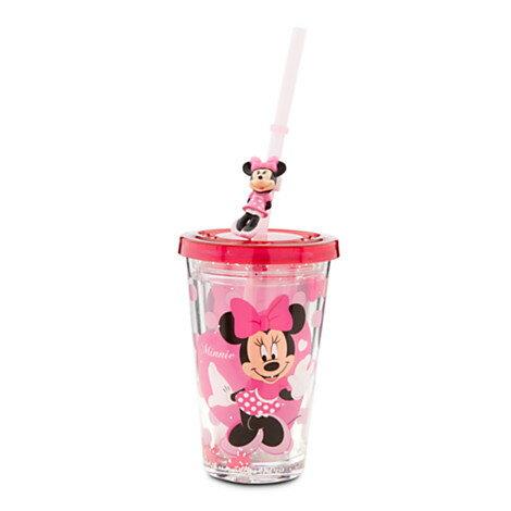 《★美國迪士尼官方_米妮 Minnie 吸管水杯》美國Disney Store購入 12oz  水壺