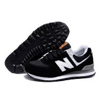 New Balance奧運五環男鞋女鞋慢跑鞋NB574運動鞋休閒情侶鞋(黑色)