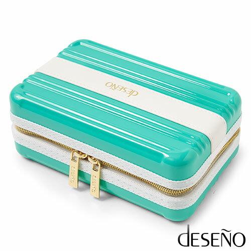 【加賀皮件】 Deseno 多色 時尚 硬殼化妝包 收納包 手拿包 B3002