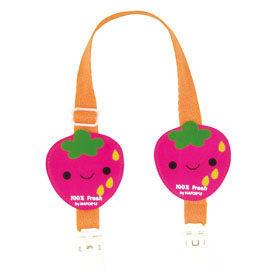 『121婦嬰用品館』拉孚兒 可愛圍兜夾 - 草莓