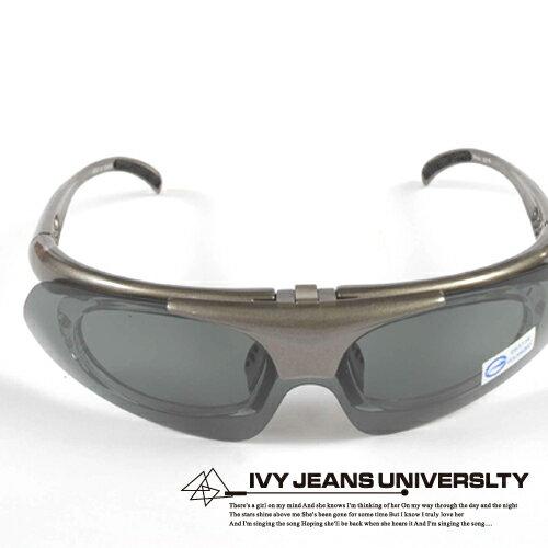 Ivy小舖【100715-601】上掀式戶外運動可換鏡片偏光太陽眼鏡(近視者也可戴)→附2色UV400鏡片.共6色