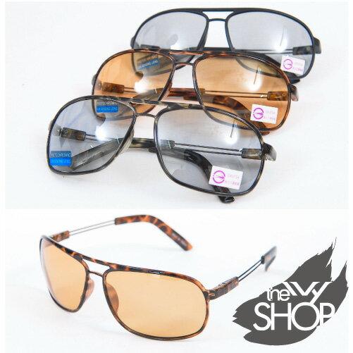 Ivy小舖【120610-603】質感超輕無重量太陽眼鏡→台灣製造.會隨著陽光強度而變色的偏光太陽眼鏡