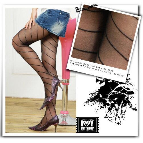 Ivy小舖【21-10-827】美腿褲襪!ViVi款立體細斜紋性感絲襪