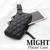 送男生聖誕交換禮物到現貨 might 菱格 手機袋 吊掛  iPhone 7 Plus 專用 手機袋 MSC-12098