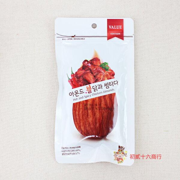 【0216零食會社】韓國_辣雞風味杏仁果100g