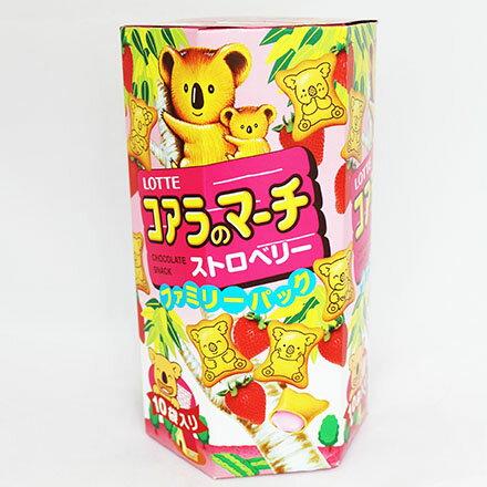 【敵富朗超巿】樂天小熊草莓餅乾(家庭號)
