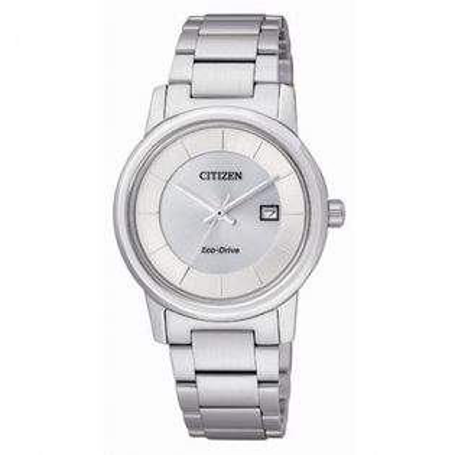 CITIZEN星辰EW1560-57A清雅靜謐三針光動能女錶/白面30mm