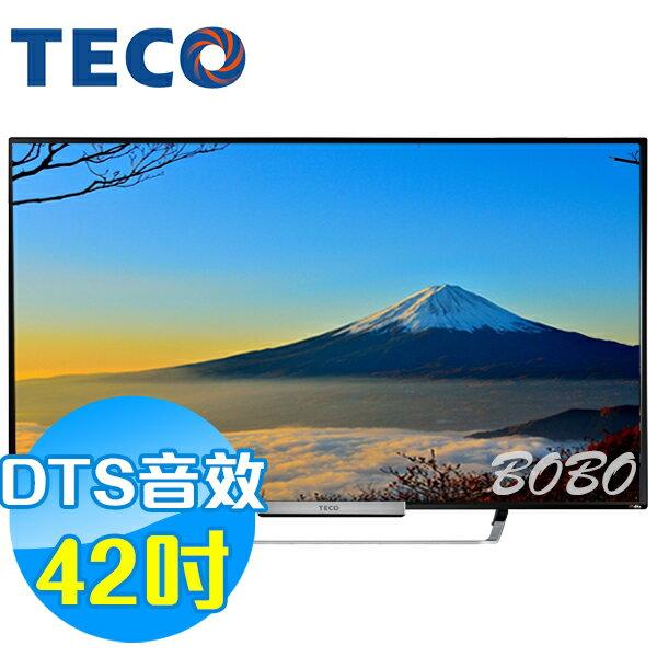 TECO東元 42吋 TL4236TRE LED液晶顯示器 液晶電視(含視訊盒)