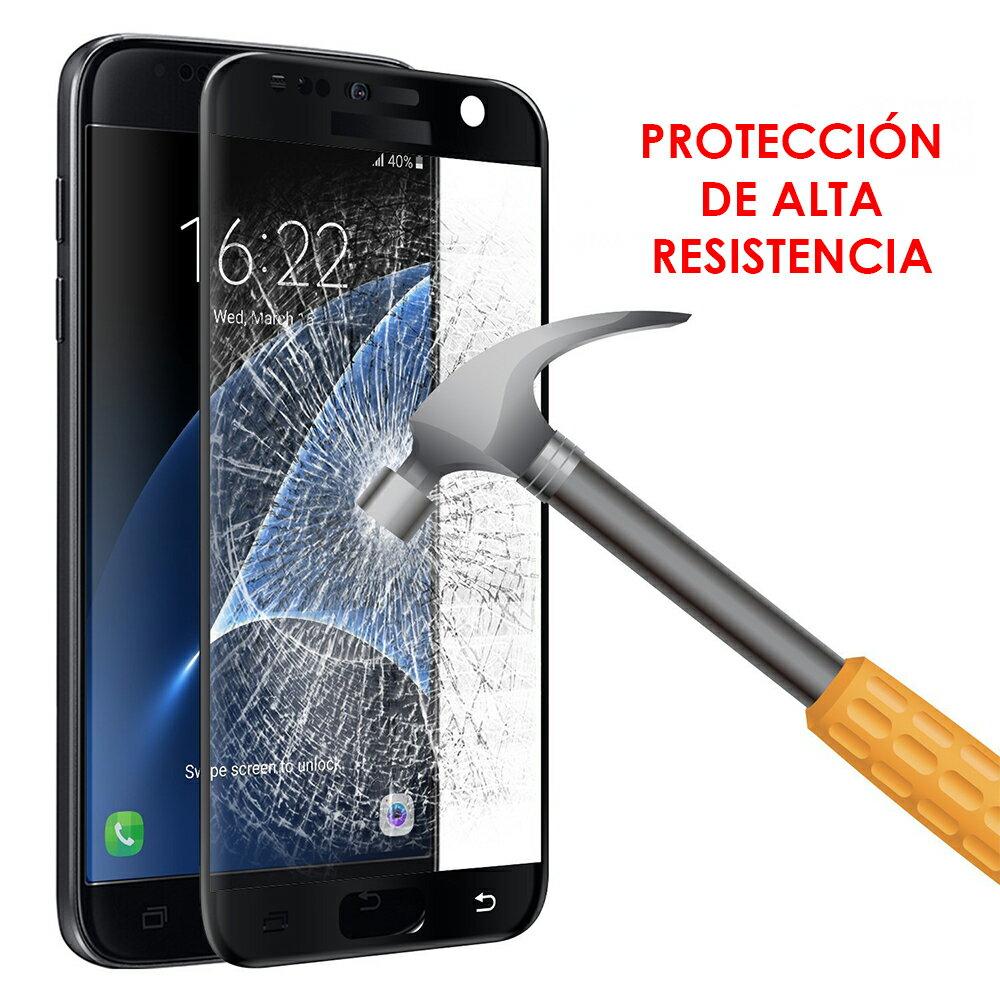 PROTECTOR CRISTAL CURVO NEGRO SAMSUNG GALAXY S7 : PROTECCIÓN EXTREMA PANTALLA DE VIDRIO TEMPLADO PREMIUM 4