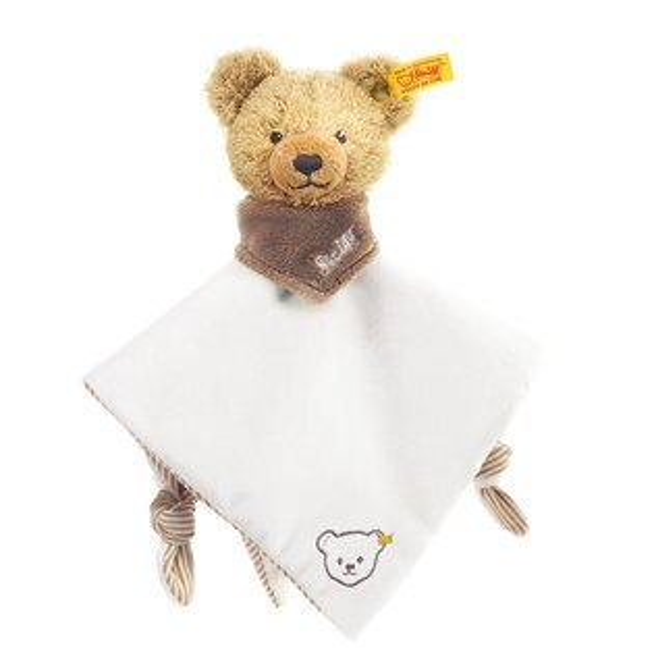 德國 Steiff 熊寶寶嬰兒安撫巾 #藍/粉/白 隨機出貨不挑款  ☆真愛香水★