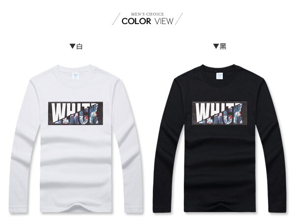 ☆BOY-2☆【PPK86030】美式潮流黑白碎花長袖T恤 1