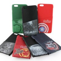 漫威英雄Marvel 周邊商品推薦【MARVEL】iPhone 6 Plus/6s Plus 復仇者聯盟 質感皮革插卡背蓋保護殼