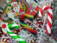 小熊維尼周邊商品推薦有樂町進口食品  聖誕節限定 彩色拐杖糖 1000G(約180~195隻) 專屬包裝 婚禮小物 同樂會
