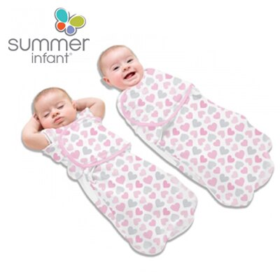 【安琪兒】美國【Summer】2合1聰明懶人育兒睡袋-加大(甜心派對) 0