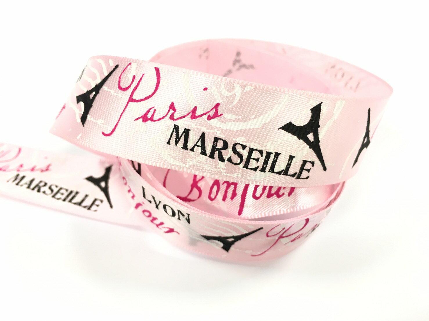 【Crystal Rose緞帶專賣店】巴黎鐵塔22mm3碼裝(3色) 1