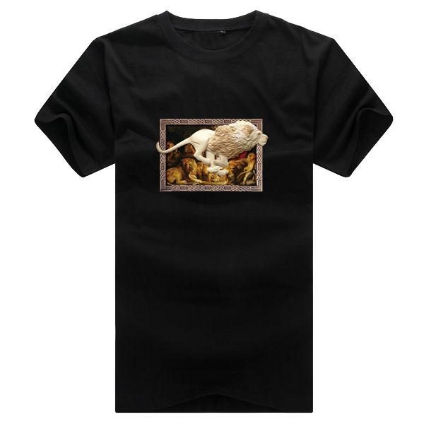 ◆快速出貨◆T恤.情侶裝.班服.MIT台灣製.獨家配對情侶裝.客製化.純棉短T.相框上奔跑獅子【YC364】可單買.艾咪E舖 7