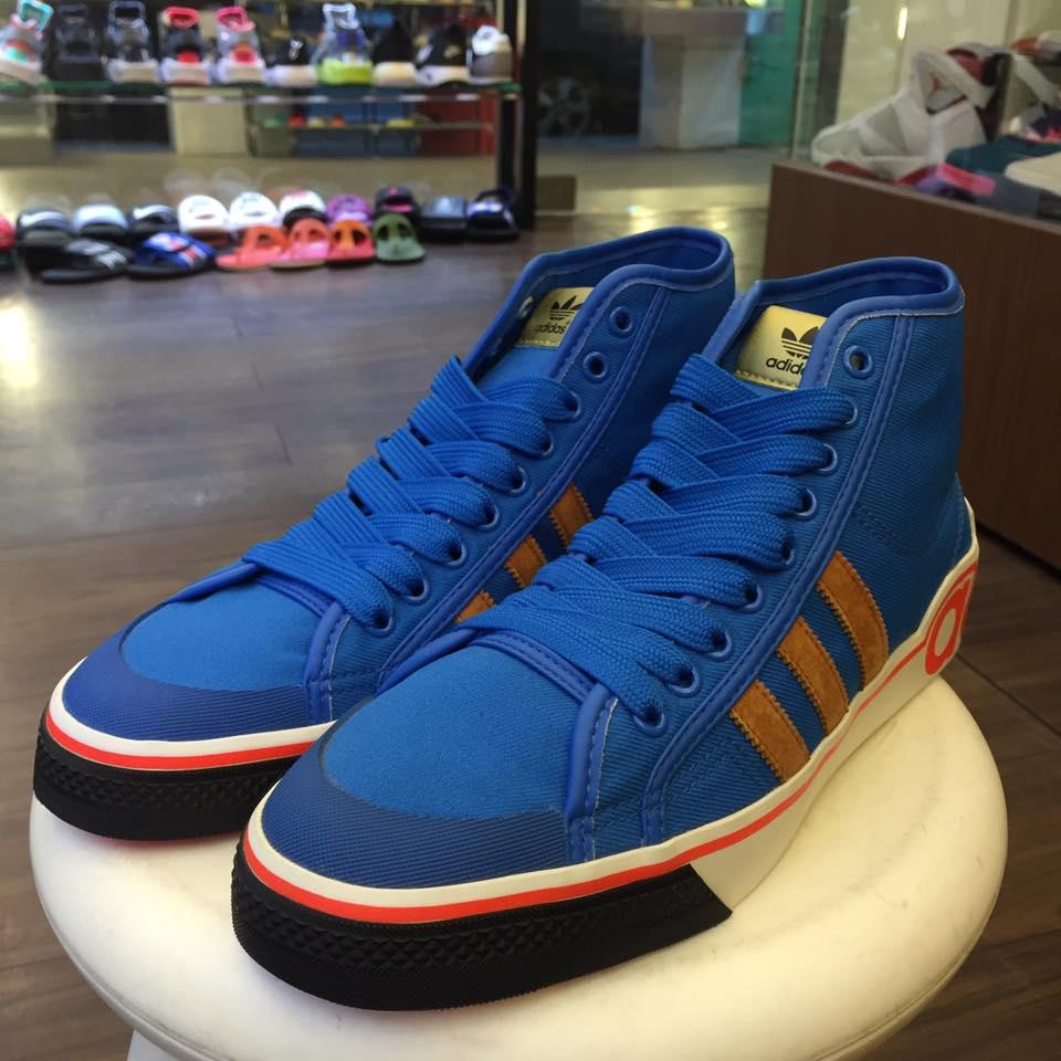BEETLE ADIDAS NIZZA HI XL 愛迪達 三葉草 高筒 帆布 藍橘 休閒鞋 G50849 US8.5 D-581 1