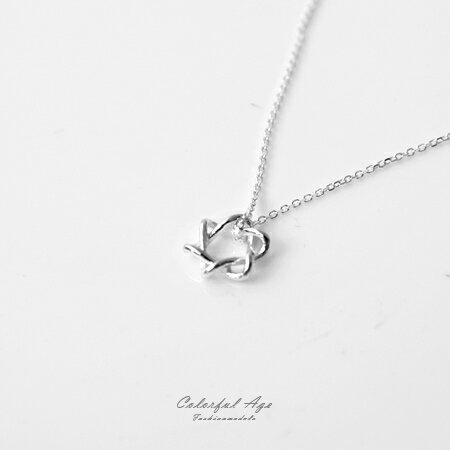 925純銀項鍊 鏤空六芒星造型鎖骨鍊頸鍊短鍊 星星抗過敏材質 柒彩年代【NPB16】 0