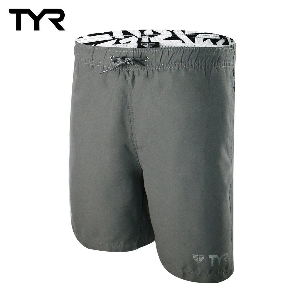 美國TYR 男款透氣慢跑短褲 Bentley Shorts Gray 台灣總代理 0