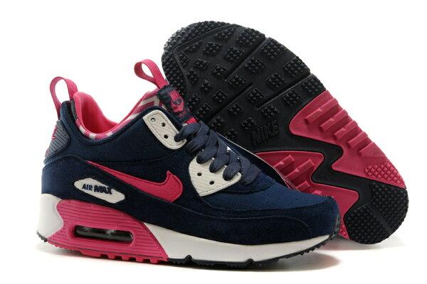 NIKE AIR MAX 90 透氣氣墊慢跑鞋 中幫運動鞋 女生休閒鞋 女鞋