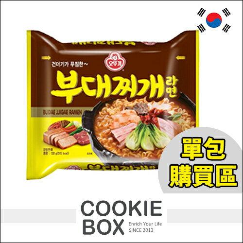 韓國 ottogi 不倒翁部隊鍋 Q拉麵 最新 單包 130g *餅乾盒子*