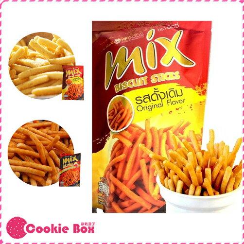 泰國 MIX 忍味條 原味輕辣 75g 脆脆條 忍味棒 人氣 團購 美食 香辣 酥脆 *餅乾盒子*