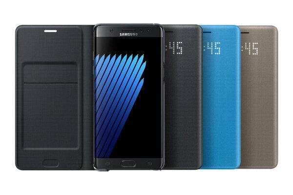 SAMAUNG 三星 Galaxy Note 7 N930FD 原廠LED皮革翻頁式皮套 【葳豐數位商城】