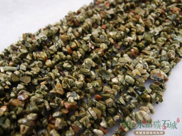 白法水晶礦石城 天然-麥飯石 3mm至9mm(有穿孔) 礦質 碎石 串珠/條珠 首飾材料(一件不留出清五折區)