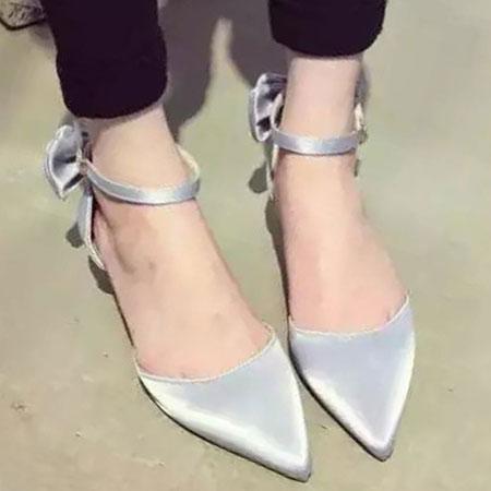 高跟鞋 優雅LADY緞面蝴蝶結尖頭跟鞋【S1589】☆雙兒網☆ 3