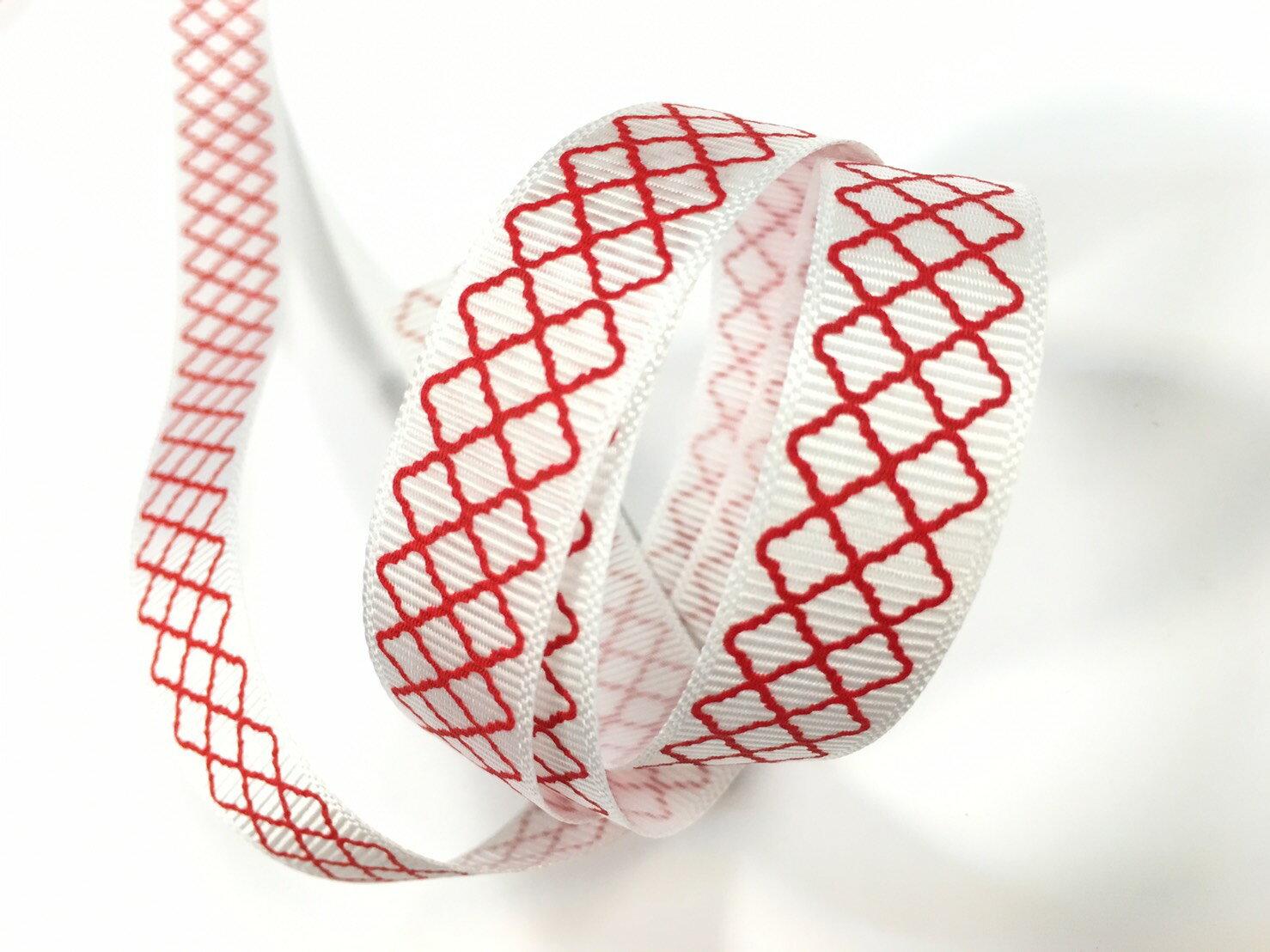 羅紋緞帶-網格 15mm 3碼裝 (5色) 3