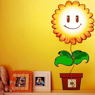 ★【STARMAKER】超萌太陽花立體感壁紙燈臥室床頭小夜燈