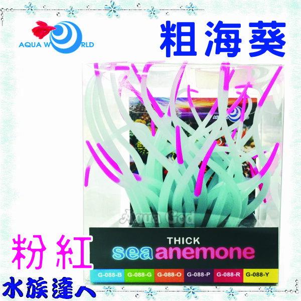 【水族達人】【造景裝飾】水世界AQUA WORLD《sea anemone 粗海葵 螢光粉紅 G-088-R》裝飾 擺飾