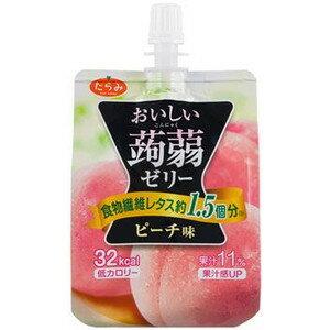 Tarami達樂美吸管蒟蒻果凍-水蜜桃(150g)
