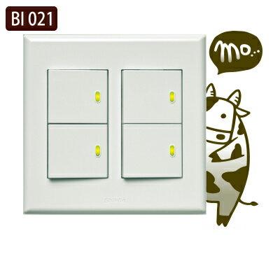 創意時尚無痕環保PVC壁貼牆貼BI021害羞熊貓開關貼防水不傷牆面可重覆撕貼