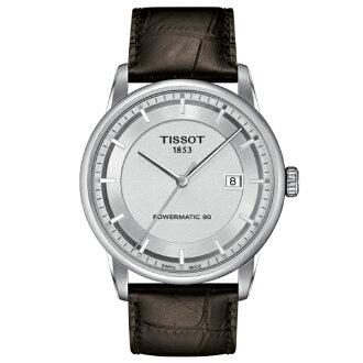TISSOT天梭T0864071603100  獨家經典80小時動力儲存機械腕錶/白面41mm