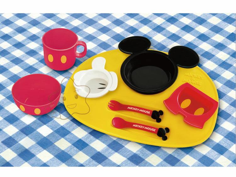 【大成婦嬰】日本超人氣 Disney 米奇、米妮多功能餐盤組 (豪華款)1組 1