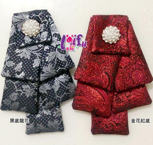 ★草魚妹★k831領結銀絲點點六層領結結婚獨家領花絲帶新郎領結多色台灣製,售價450元