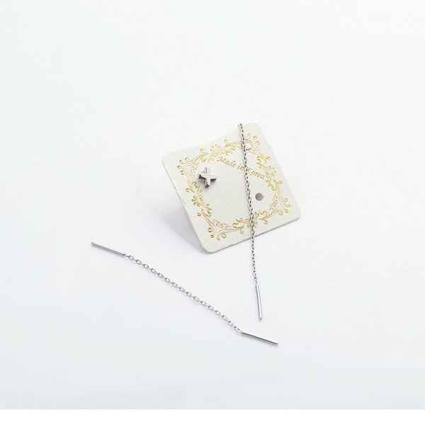 PS Mall 太陽的後裔宋慧喬耳線十字架耳釘女耳環氣質簡約甜美~G1970~ ~  好康