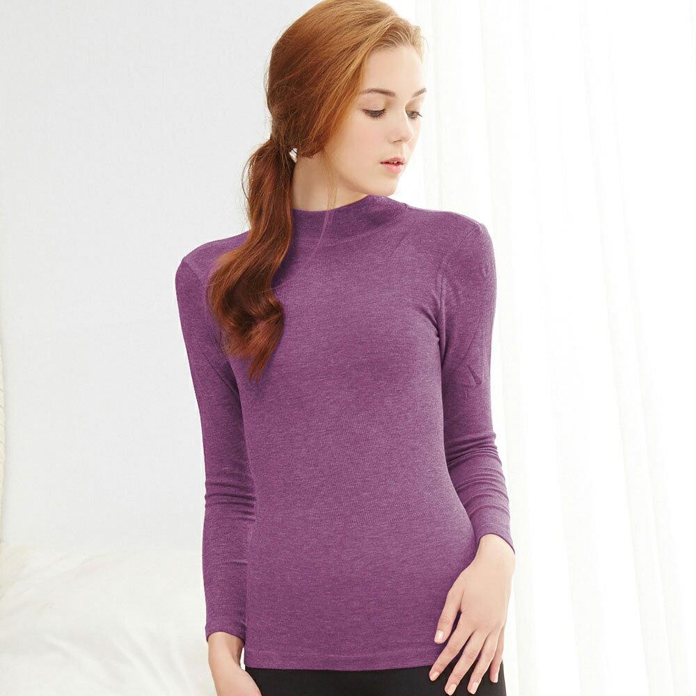 【依夢】X-Hot 發熱纖維高領保暖衛生衣(葡萄紫) - 限時優惠好康折扣