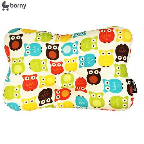 韓國【 Borny 】3D透氣純棉塑型嬰兒枕(6個月以上適用) (貓頭鷹) 0