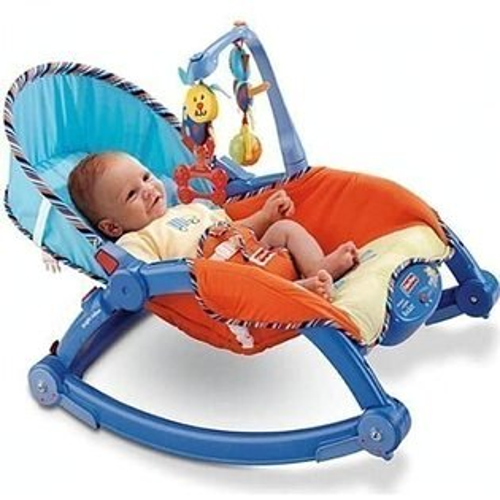 費雪 可攜式兩用安撫躺椅 多功能輕便搖椅 042264 再送momo綜合谷粉508g