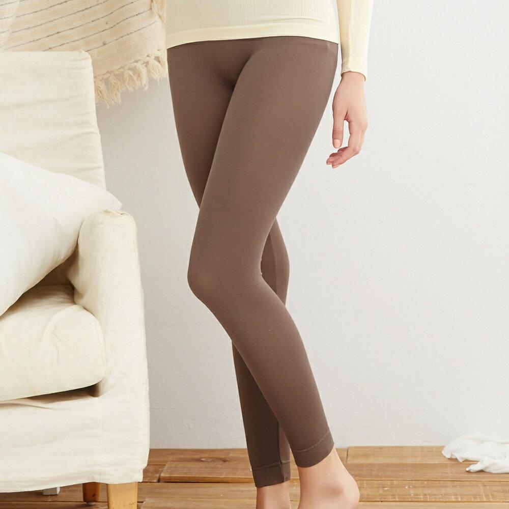【Emon】台灣製 天然木槳棉無縫保暖衛生褲(摩卡) 0