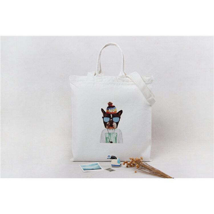 手提包 手提包 帆布袋 手提袋 環保購物袋--手提/單肩/拉鏈【SPA91】 BOBI  10/06 2