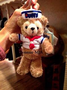 *Yvonne MJA香港代購*香港迪士尼Disney樂園限定正品Duffy達菲熊水手特別版吊飾鑰匙圈